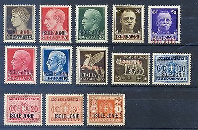 "GREECE 1941 ITALIAN STAMPS (1929-1942) WITH ""ISOLE JONIE"", No1-13 (13), VL, MNH"