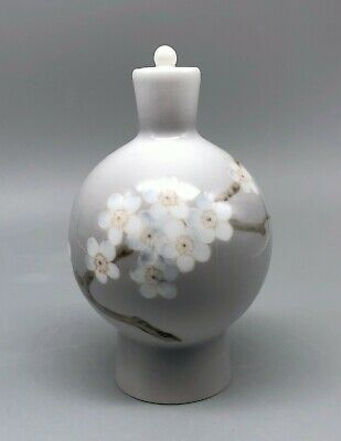 Royal Copenhagen Bing & Grondahl Cherry Blossom Bottle Vase Decanter
