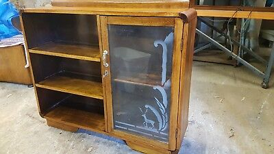 Art Deco Antique Bookcase Blackwood Restored