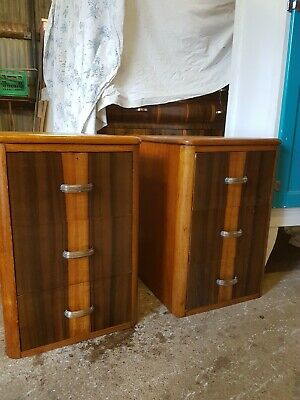 Art Deco Antique Bedsiders Restored