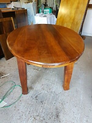 Antique Art Deco Dining Table Restored C1900 Blackwood