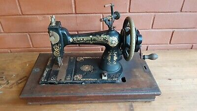Antique Industrial New White Peerless Sewing Machine