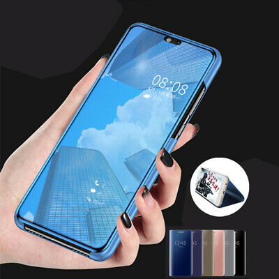 New Smart Mirror Clear View Flip Leather Case Cover For Huawei Honor 10 9  Lite