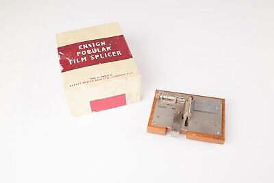 Ensign Popular -  Vintage 16mm Film Splicer in original box. Excellent Condition