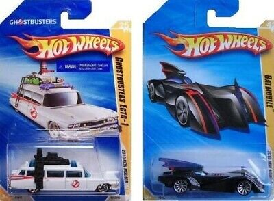 Hot Wheels 2010 New Models 2 Cars - Ghostbusters Ecto-1 and Batmobile (The Brav