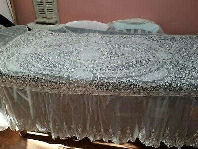 Antique Lace French Normandy Bedspread Wedding Veil?exceptional Wedding