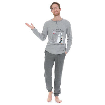 Pigiama uomo Pingu di Happy People in Caldo cotone 4333 T454