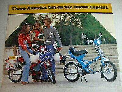 1979 Honda Express NC50 NA50 Moped Scooter Genuine Dealer Sales Brochure NOS