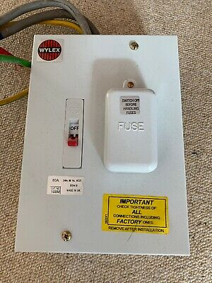 WYLEX 60 Amp Metal Clad Fuse Board Box with tails and earth
