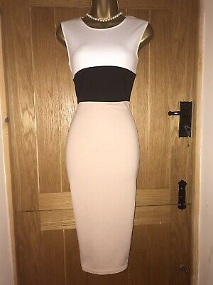 61023849fee3e BOOHOO NIGHT STRETCH bodycon shift wrap dress size 12 - EUR 3,47 ...