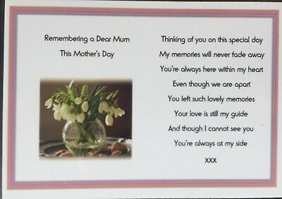 A Memorial Grave Card Mother's Day