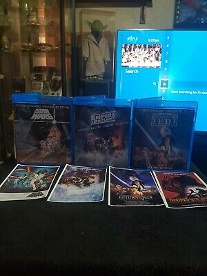 DELUXE EDITION Original Star Wars Despecialized Trilogy. Blu Ray + Bonus Content