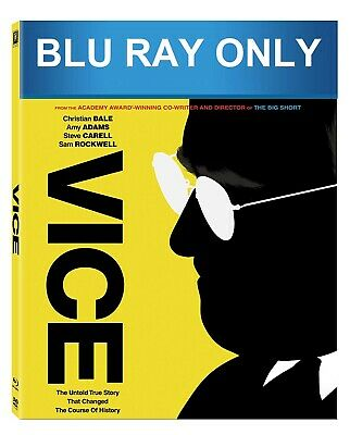 Vice (2018) BLU-RAY ONLY + CASE + ARTWORK ** The disc has never been watched **