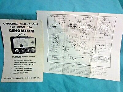 Vintage Accurate Instruments Genometer Model 156 Manual & Schematic