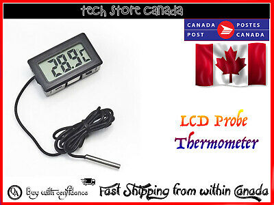 For Aquarium Digital LCD Probe Fridge Freezer Kitchen Thermometer Thermograph