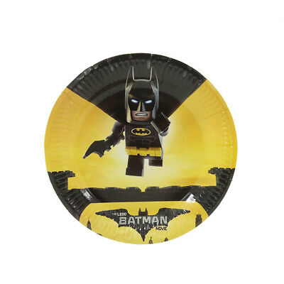 12pcs/lot Batman Theme Party Decoration Disposable Tableware Paper Plate Dishes