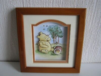 Framed Picture Of Winnie The Pooh 3D Decoupage John Ellam Living Pictures