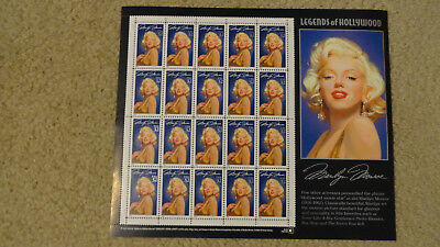 Marilyn Monroe 20 32 Cent Stamps Sheet 1995