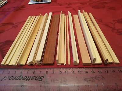 Bundle of 15 x Unpainted Dolls House Moldings.