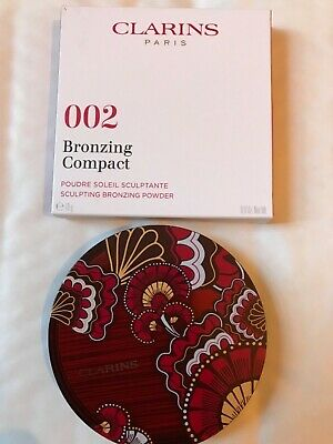 Clarins Bronzing Compact Sculpting Bronzing Powder 002 Sunrise Glow New In Box