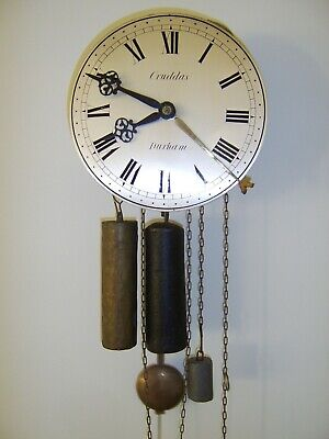 Early Rare Antique Hook And Spike Wall Clock - Cruddas Durham