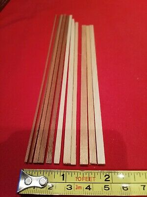 Bundle of 11 x Unpainted Dolls House Moldings.