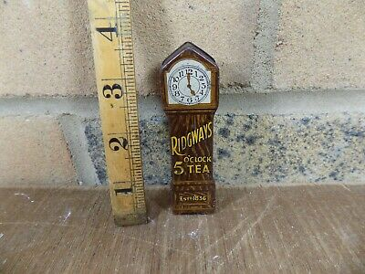 Ridgeways Grandfather Clock Miniature Sample Tea Tin c1910