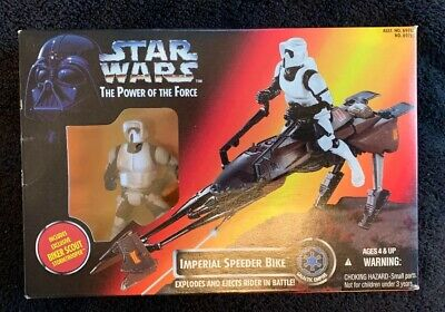 1995 Star Wars TPOTF Imperial Speeder Bike w// Exclusive Biker Scout Stormtrooper