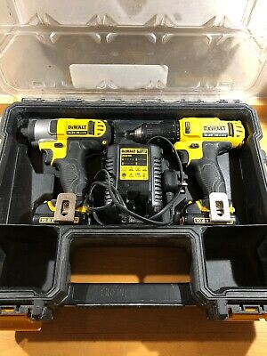 Dewalt dcz211s2r 10.8v Impact Driver And Drill Driver Set With 2 Batteries.