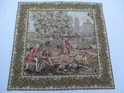 Old French / Belgium Tapestry Wall Hanging - 92 x 90 cm ( 4603 )