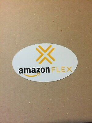 AMAZON FLEX (1) Small Magnetic Car Truck VEHICLE SIGN 3 x 5.5 oval removable