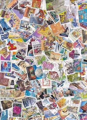 400 Australia Stamps All Different Used Bulk Collection Lot Off Paper Free Post