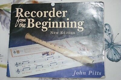 Recorder Tutor Book 1 New Edition John Pitts Musical Instrument Woodwind Music