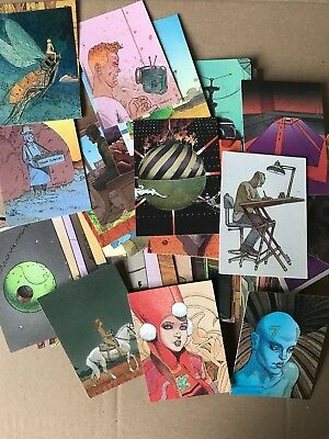 Moebius – Complet 90 Collector Cards Trading cards set Art Work -  Cartes COMICS