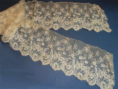 VICTORIAN LACE FLOUNCE 145 cm x 15 cm HAND MADE     01