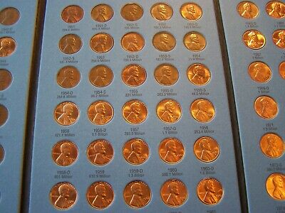 1941-1974 WHEAT & MEMORIAL CENTS in WHITMAN FOLDER - ** Nice looking coins **
