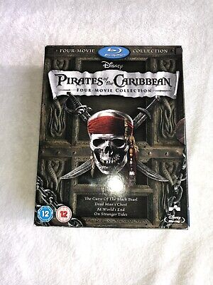 Pirates of the Caribbean: Four-Movie Collection (Blu-ray Disc, 2012, 4-Disc Set)