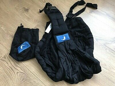 The Baba Sling Baby Carrier Black With Instructions And Storage Bag. Unisex.