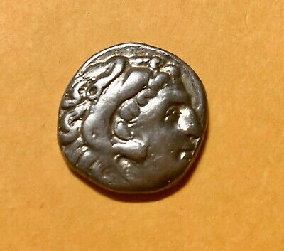 Alexander III The Great of Macedon Siver Drachma 16 mm 4.1 grams A