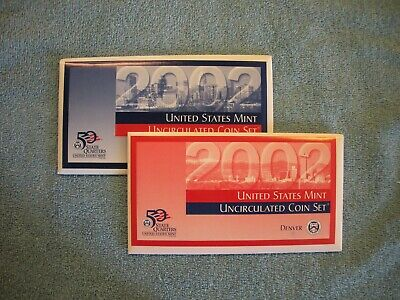 2002 United States Mint P & D Uncirculated Coin Set