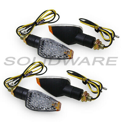 SET LED Miniblinker klar M8x1,25 für SIMSON Moped Tuning Blinker Roller Scooter