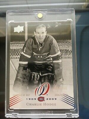 2008-09 Charlie Hodge #107 Montreal Canadiens Centennial Parallel 096/100 Sp