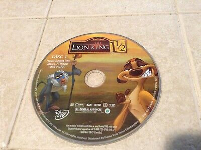 1 CENT: Disney's The Lion King 1 1/2 DVD (no case)