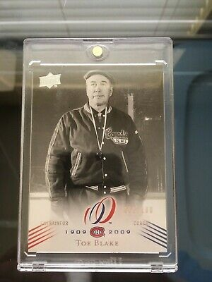 2008-09 Toe Blake #164 Montreal Canadiens Centennial Parallel 062/100 Sp