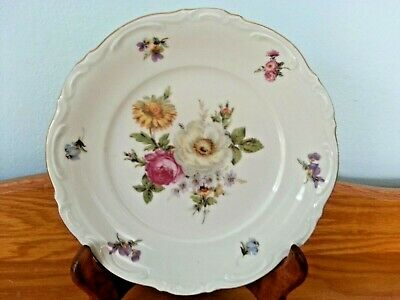 """Mitterteich Meissen Floral Bavaria Germany 7.75"""" Salad Plate. 8 Available."""