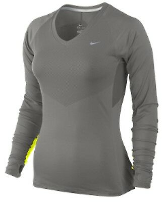 51bc732cab2793 NIKE WOMEN S 474044 Speed Long Sleeve Running Top Training Tennis ...
