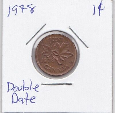 1978 - 1 Cent Canada Double Date Coin