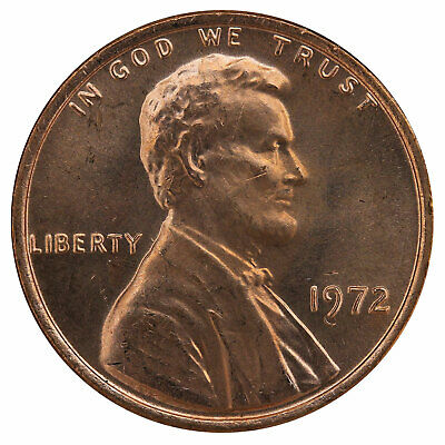 1972 Lincoln Memorial Cent BU Penny US Coin