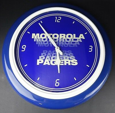 """Vintage Large Motorola Pagers 22.5"""" Promotional advertising Wall Clock Sign"""