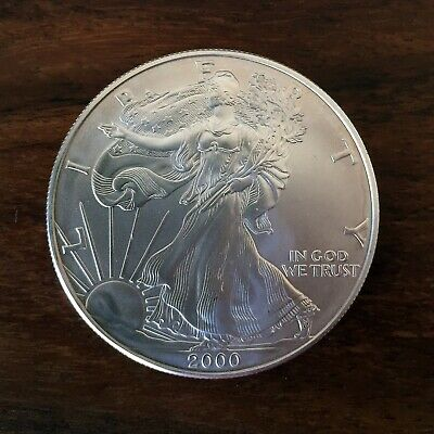 PERFECT Condition 2000 Silver American Eagle 1 oz. Coin U.S. Mint, Uncirculated